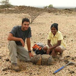 Dinosaur fossil discovered in the Lubur Hills, West Turkana.