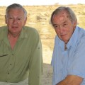 Don Johanson (L) and Richard Leakey, together at TBI's Ileret research facility.