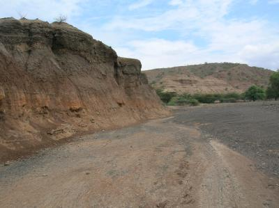 Tools made by early humans were found at Kokiselei, Kenya, in Lake Turkana's ancient shoreline sediments pictured above. Photo credit: Lamont-Doherty Earth Observatory.