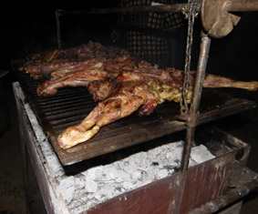 Goat barbecue on Saturday night...