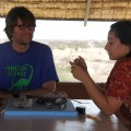 Dr. Mikael Fortelius and Maegan discuss fossils