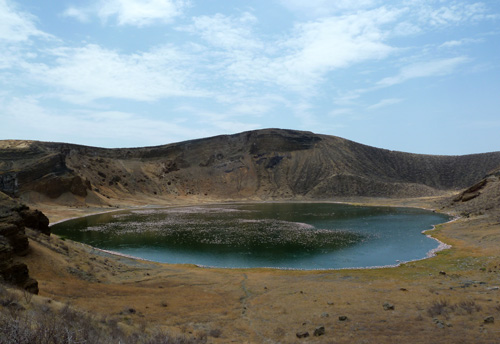 View over Central Island's Flamingo Crater