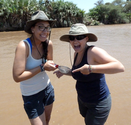 Evelyn and Andrea celebrate their first find!