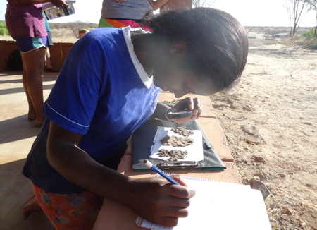 GEO303 – Lucy analyzes and describes sediments from various sites in the Turkwel River.