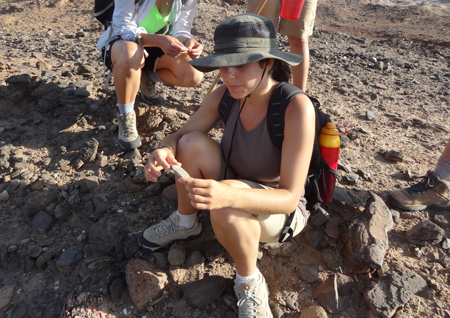 GEO303 – Kristle finds a fossilized turtle carapace at Lothagam.