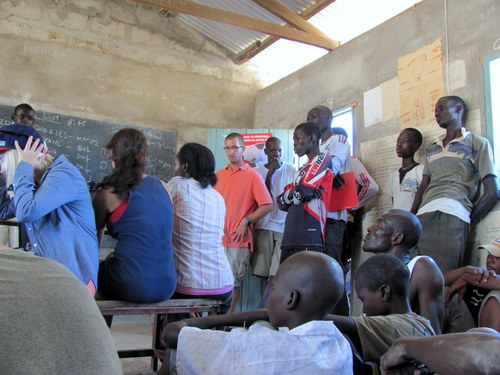 Students ask questions to Turkana teachers