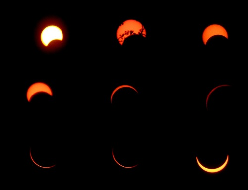 The eclipse as we saw it unfold at TBI