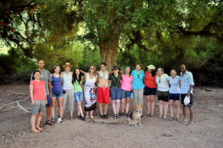 Under the Tamarind Trees... The field school takes a group picture.