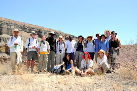 Professors and students at Dry Crater, near Crocodile Lake.