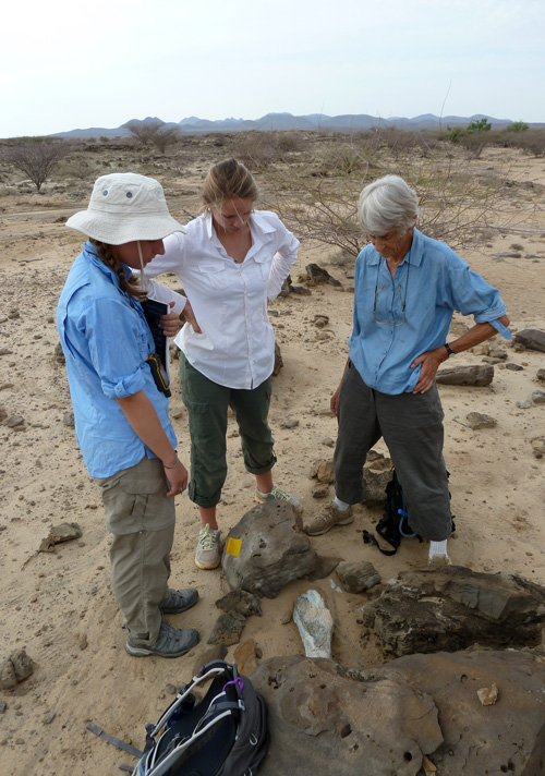 Robyn and Sarah re-discover part of a large animals' leg bone