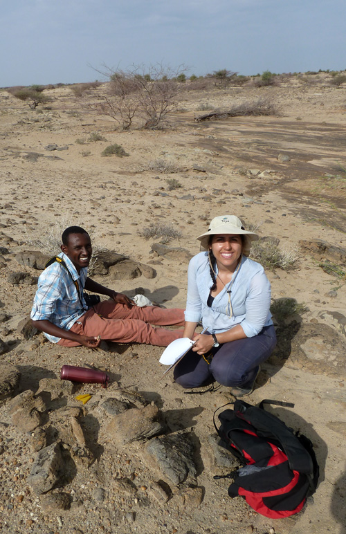 Abdi and Angela document their find of a tooth