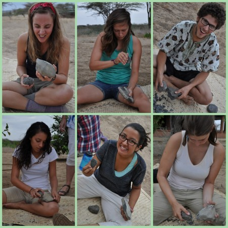 The Acheulean family. From top left: Sarah, Kailie, Rob, Tiffany, Carolina and Erica.