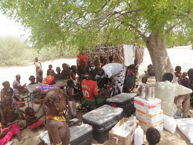 Distribution of food supplement to malnourished children