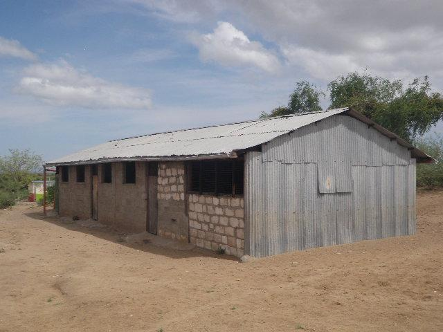 This structure is currently being used as a secondary school. It is an old building which was formerly Ileret primary school. The school currently has 16 students. The four teachers are supported through the TBI community fund.