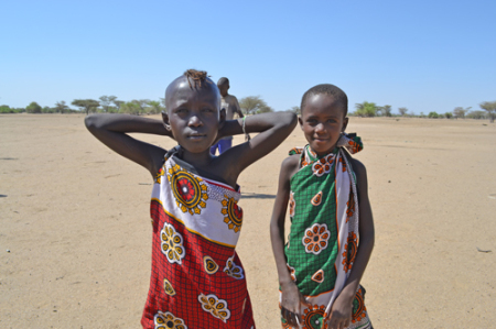 Two Turkana girls after the game.