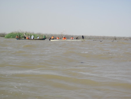 The Lake Turkana water levels are exceptionally high at the moment.