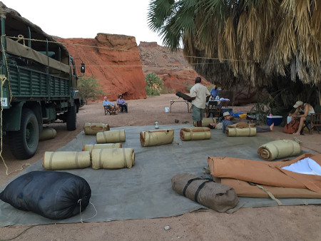 Back to camp and time to roll out our sleeping mats and hang up our mosquito nets. Was a great first day!