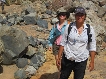 Aileen and Page are almost to the waterhole.