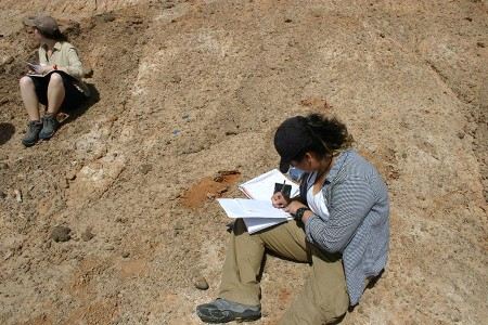 Aileen and Anna document another find.