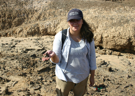 Aileen holds what turns out to be a rock.