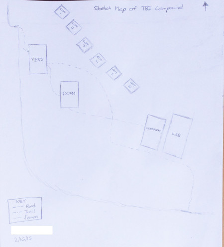 Sketch map of TBI - Turkwel.