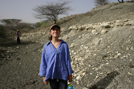 More stromatolites! Anna for scale.