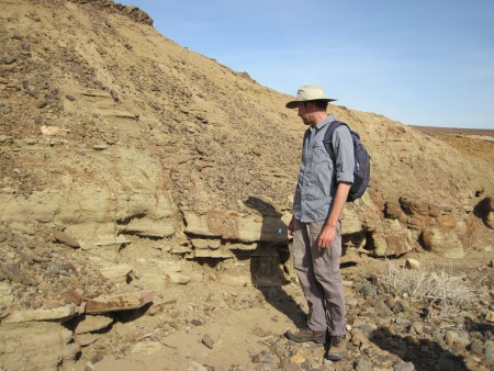 Mike looks for fossils