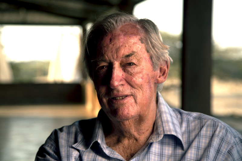 Richard Leakey photographed by J.J. Kelley for National Geographic Television