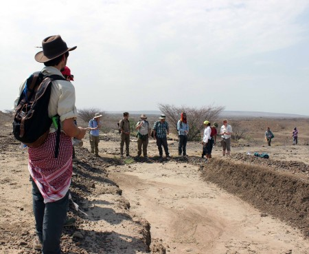 At the end of our field adventure, we visited an excavation site from a few years ago where researchers found hominin.