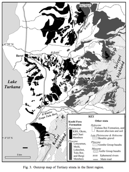 Geologic Map from the Ileret Region from Gathogo & Brown 2006a