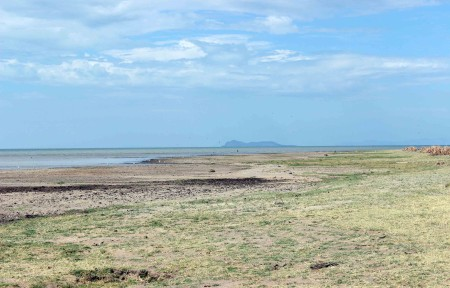 The view of North Island from the Tulu Bor delta shoreline.