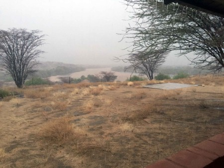 The heavy rains drenched TBI Turkwel camp for two days, making many of the routes to farther sites difficult to traverse.