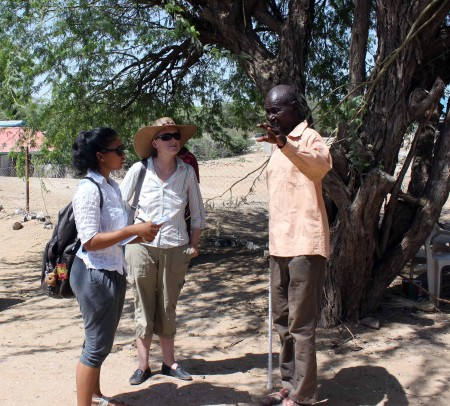Adriadne and Prof. Hildebrand hear stories from a man who served as the cook for Jomo Kenyatta during his sentence in prison.