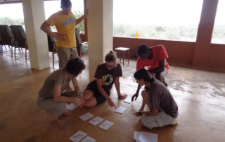 TA Mattia and Dr. Miller help Danielle, Toby, and Carla determine how to start their phylogenetic tree