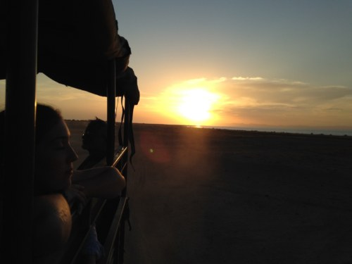 The sun sets with our hearts as we head back to camp for the last time, ending our geologic adventures at Koobi Fora.