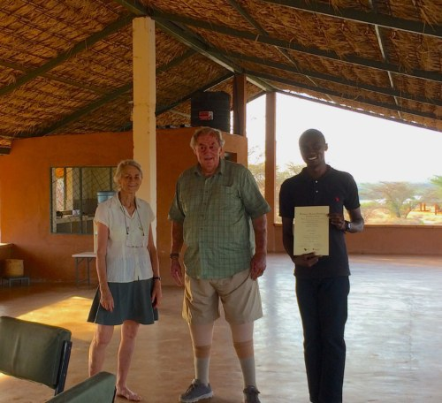 Toby with Drs Meave and Richard Leakey