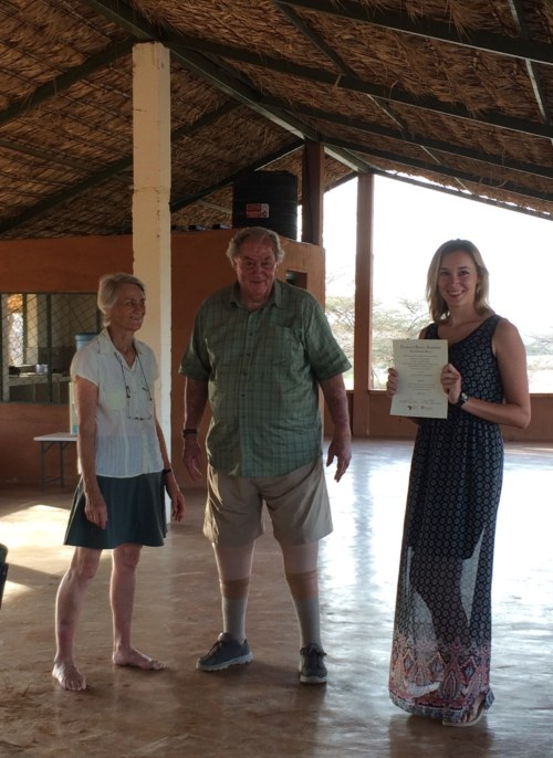 Danielle with Drs Meave and Richard Leakey
