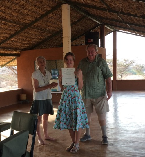 Emily with Drs Meave and Richard Leakey