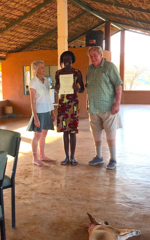 Esther with Drs Meave and Richard Leakey