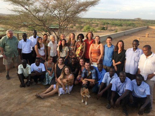 Fall 2016 field school students with TBI Turkwel staff.