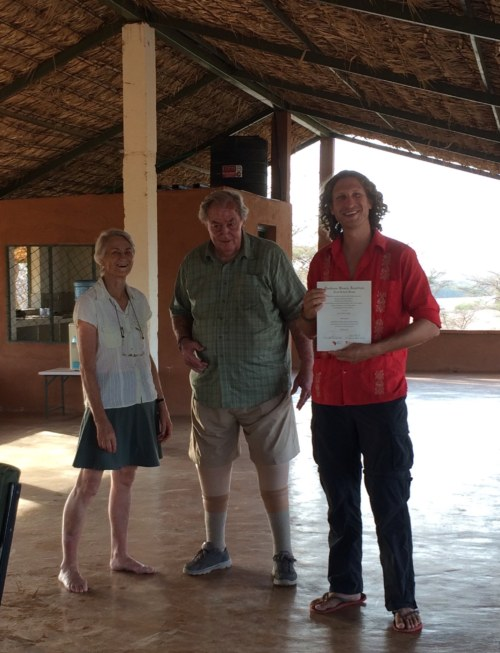 Jonathan with Drs Meave and Richard Leakey