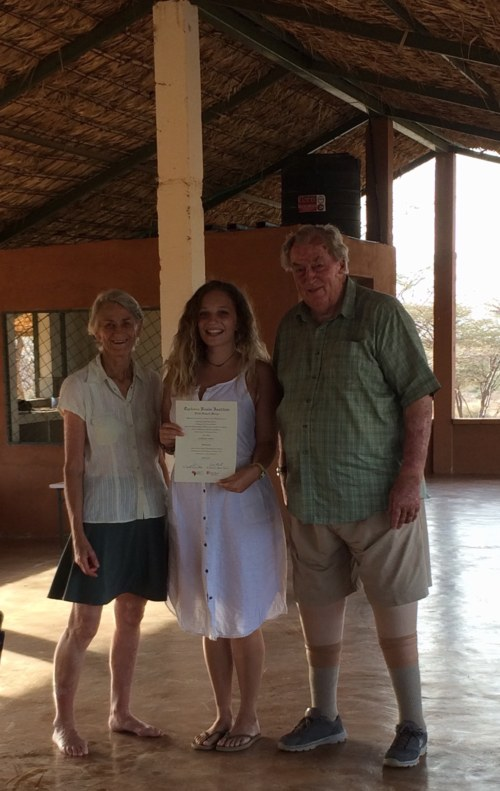 Kathryn with Drs Meave and Richard Leakey