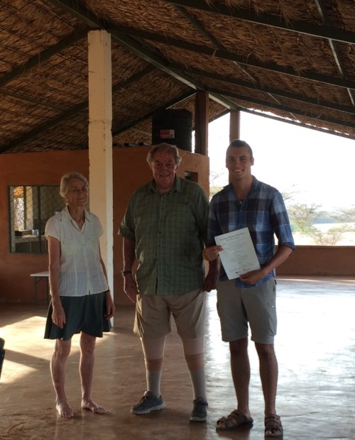Max with Drs Meave and Richard Leakey