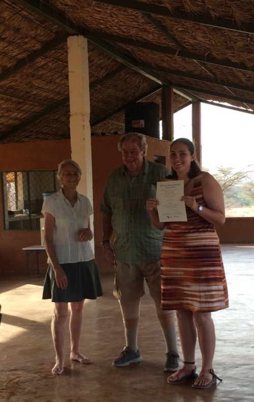 Morgan with Drs Meave and Richard Leakey