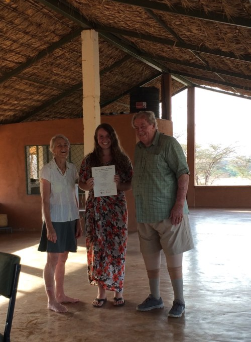 Yvette with Drs Meave and Richard Leakey