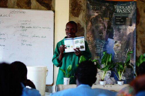 Shadrack with booklet in Ileret